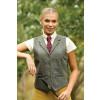 Fen Tweed Lapel Waistcoat - Green 34
