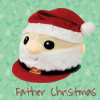 Childs Father Christmas Santa Hat Silk - Red O/S