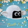 Childs Linett Lamb Hat Silk - White/Black O/S