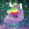 Childs Twilight Unicorn Hat Silk - Lavender O/S