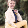 Junior Stretch Show Shirt (Long Sleeved) - Soft Yellow 20