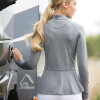 Peplum Training/ Competition Shirt -  Melange Grey UK8/ US4
