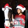 Childs Santa's Horse Hat - Red/White Pony