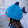 Childs Shark Hat Silk - Blue O/S