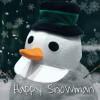 Childs Snowman Hat Silk - White O/S