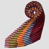 Junior Broad Stripe Show Tie - Navy/Lt Blue