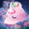 Childs Sleepy Unicorn Hat Silk - Pink O/S