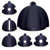 Lycra Hat Silk - Navy (no button)