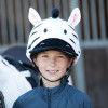 Childs Zebra Hat Silk - White/Black O/S