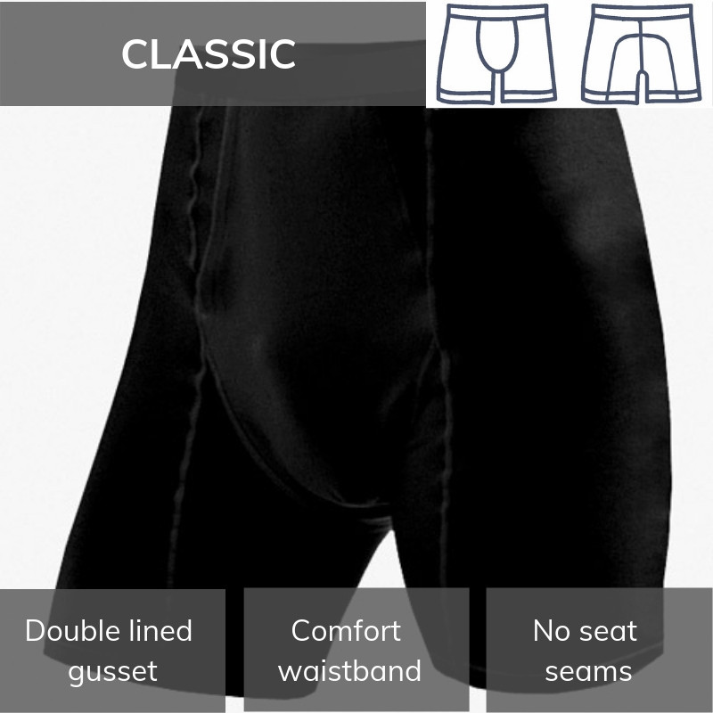 Ladies Horse Riding Underwear Bikini Brief Plus BLACK Extra Large Equetech